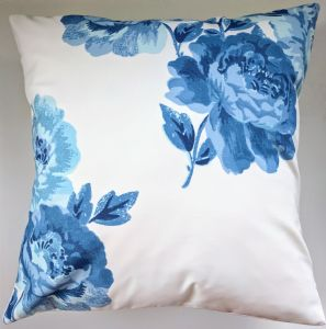 "Cushion Cover in Cath Kidston Peony Blossom Blue 14"" 16"" 18"" 20"""